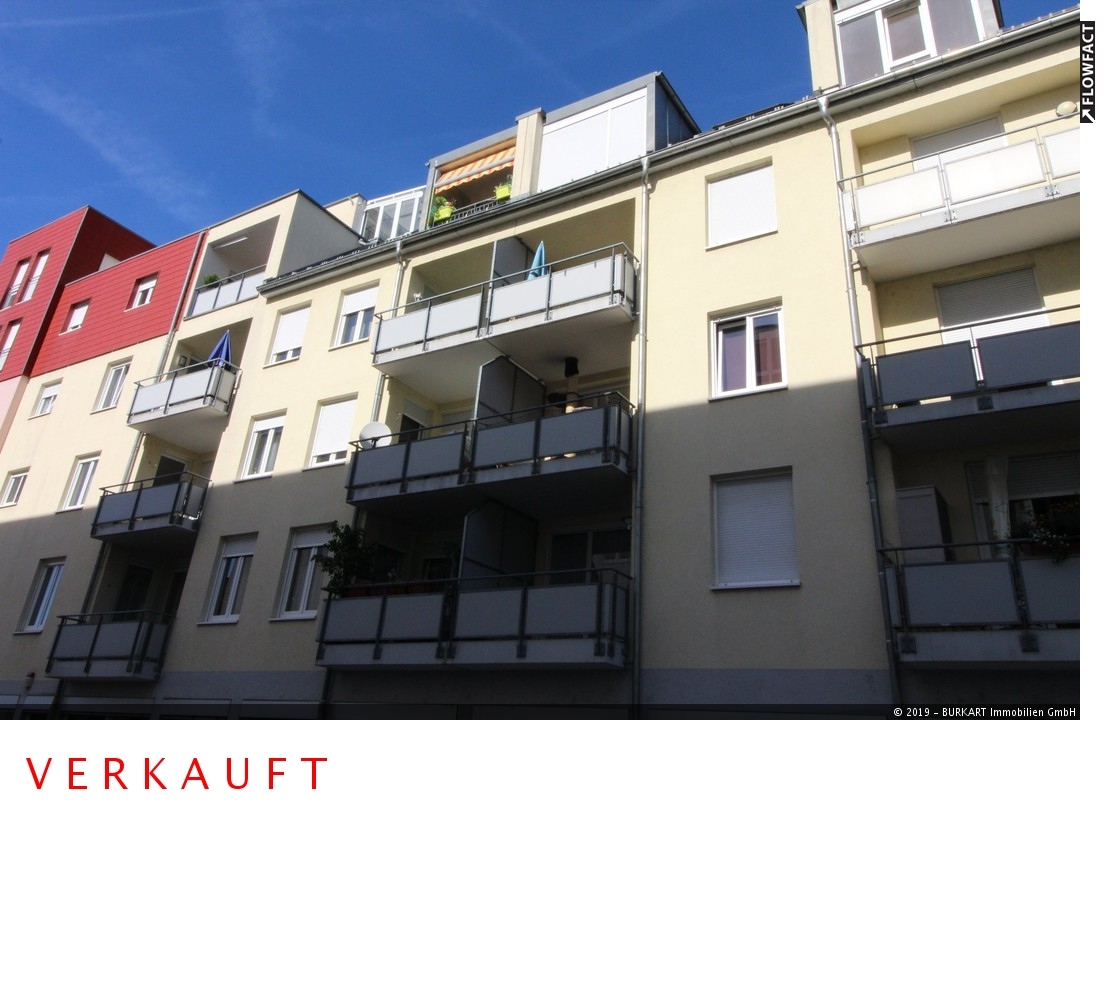 ++VERKAUFT++  Wohnen in der City! 3 Zimmer & 2 Sonnen-Balkone in Rheinfelden, 79618 Rheinfelden, Etagenwohnung